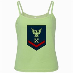 Coast Guard Rank E 4 Third Class Petty Officer  Green Spaghetti Tank