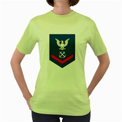 Coast Guard Rank E 4 Third Class Petty Officer Women s T Shirt (green)