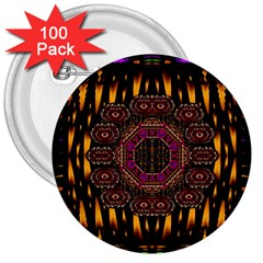 A Flaming Star Is Born On The  Metal Sky 3  Buttons (100 Pack)