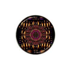 A Flaming Star Is Born On The  Metal Sky Hat Clip Ball Marker (4 Pack)