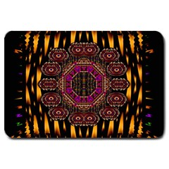 A Flaming Star Is Born On The  Metal Sky Large Doormat