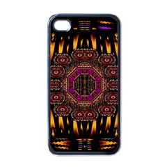 A Flaming Star Is Born On The  Metal Sky Apple Iphone 4 Case (black)