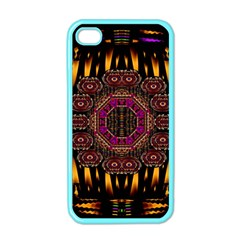 A Flaming Star Is Born On The  Metal Sky Apple Iphone 4 Case (color)
