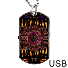 A Flaming Star Is Born On The  Metal Sky Dog Tag Usb Flash (one Side)