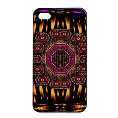 A Flaming Star Is Born On The  Metal Sky Apple Iphone 4/4s Seamless Case (black)