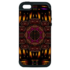 A Flaming Star Is Born On The  Metal Sky Apple Iphone 5 Hardshell Case (pc+silicone)
