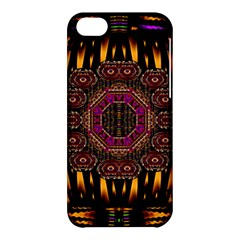 A Flaming Star Is Born On The  Metal Sky Apple Iphone 5c Hardshell Case