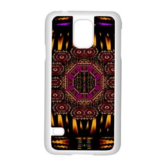 A Flaming Star Is Born On The  Metal Sky Samsung Galaxy S5 Case (white)