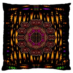A Flaming Star Is Born On The  Metal Sky Large Flano Cushion Case (two Sides)