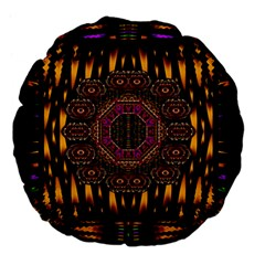 A Flaming Star Is Born On The  Metal Sky Large 18  Premium Flano Round Cushions