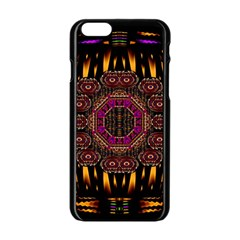 A Flaming Star Is Born On The  Metal Sky Apple Iphone 6/6s Black Enamel Case