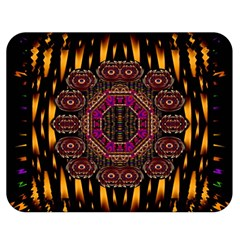 A Flaming Star Is Born On The  Metal Sky Double Sided Flano Blanket (medium)