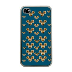 Cartoon Animals In Gold And Silver Gift Decorations Apple Iphone 4 Case (clear)