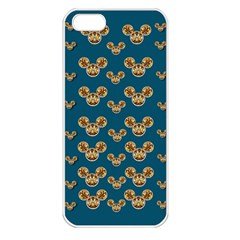 Cartoon Animals In Gold And Silver Gift Decorations Apple Iphone 5 Seamless Case (white)