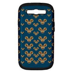 Cartoon Animals In Gold And Silver Gift Decorations Samsung Galaxy S Iii Hardshell Case (pc+silicone)