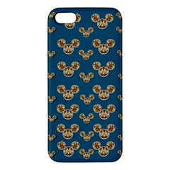 Cartoon Animals In Gold And Silver Gift Decorations Apple Iphone 5 Premium Hardshell Case