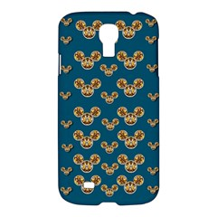 Cartoon Animals In Gold And Silver Gift Decorations Samsung Galaxy S4 I9500/i9505 Hardshell Case