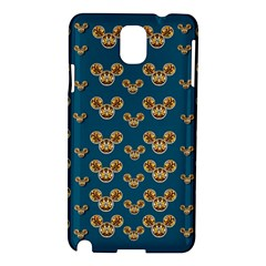 Cartoon Animals In Gold And Silver Gift Decorations Samsung Galaxy Note 3 N9005 Hardshell Case