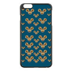 Cartoon Animals In Gold And Silver Gift Decorations Apple Iphone 6 Plus/6s Plus Black Enamel Case