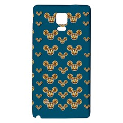Cartoon Animals In Gold And Silver Gift Decorations Galaxy Note 4 Back Case