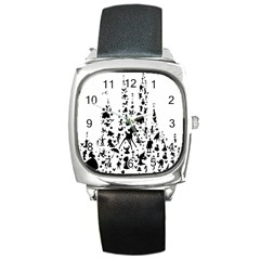 Happiest Castle On Earth Square Metal Watch