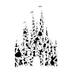 Happiest Castle On Earth Shower Curtain 48  X 72  (small)