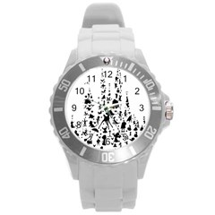 Happiest Castle On Earth Round Plastic Sport Watch (l)