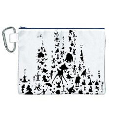 Happiest Castle On Earth Canvas Cosmetic Bag (xl)
