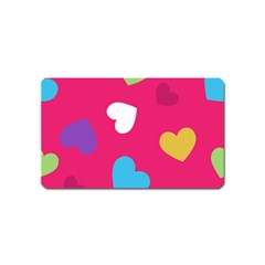 Valentine s Day Pattern Magnet (name Card)