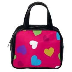 Valentine s Day Pattern Classic Handbags (one Side)