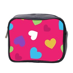 Valentine s Day Pattern Mini Toiletries Bag 2 Side