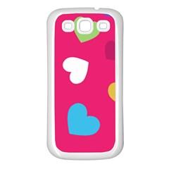 Valentine s Day Pattern Samsung Galaxy S3 Back Case (white)