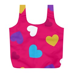Valentine s Day Pattern Full Print Recycle Bags (l)