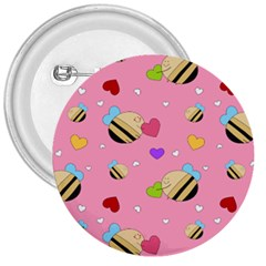 Bee Mine Valentine 3  Buttons