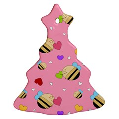 Bee Mine Valentine Christmas Tree Ornament (two Sides)