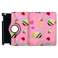 Bee Mine Valentine Apple Ipad 2 Flip 360 Case
