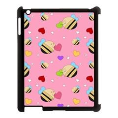 Bee Mine Valentine Apple Ipad 3/4 Case (black)