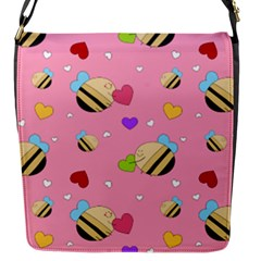 Bee Mine Valentine Flap Messenger Bag (s)