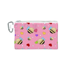 Bee Mine Valentine Canvas Cosmetic Bag (s)