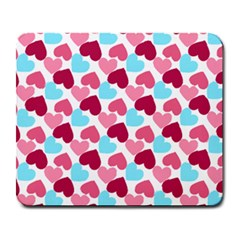 Bold Valentine Heart Large Mousepads