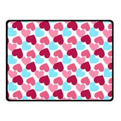 Bold Valentine Heart Double Sided Fleece Blanket (small)