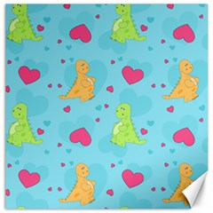 Dinosaur Love Pattern Canvas 20  X 20