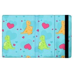 Dinosaur Love Pattern Apple Ipad 3/4 Flip Case