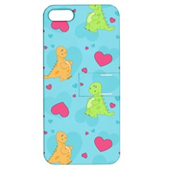 Dinosaur Love Pattern Apple Iphone 5 Hardshell Case With Stand