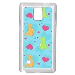 Dinosaur Love Pattern Samsung Galaxy Note 4 Case (white)