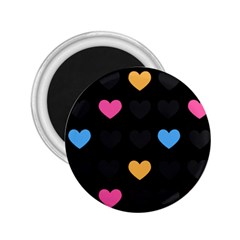 Emo Heart Pattern 2 25  Magnets
