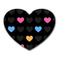 Emo Heart Pattern Heart Mousepads