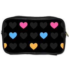 Emo Heart Pattern Toiletries Bags
