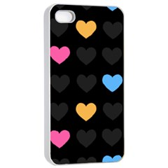 Emo Heart Pattern Apple Iphone 4/4s Seamless Case (white)
