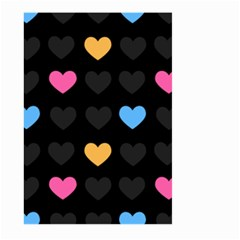 Emo Heart Pattern Large Garden Flag (two Sides)